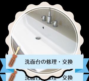 洗面台の修理・交換