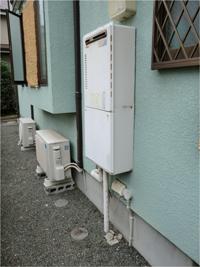 ガスコンロ・給湯の工事例1